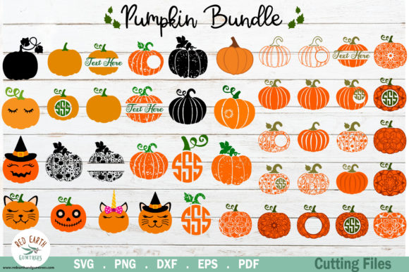 Halloween Pumpkin Bundle Graphic Crafts By redearth and gumtrees