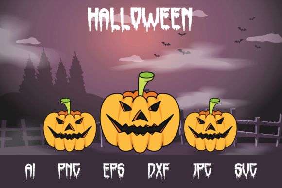 Halloween Pumpkin Graphic Crafts By custodestudio