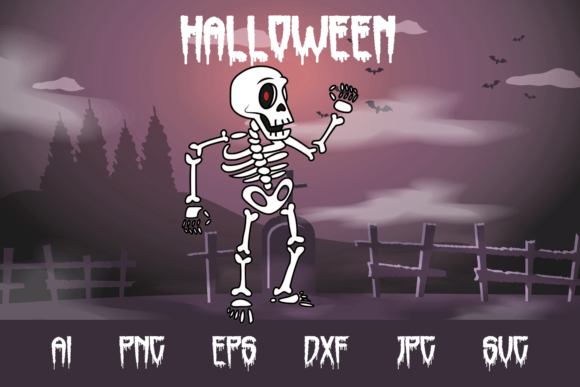Halloween Skeleton Graphic Crafts By custodestudio