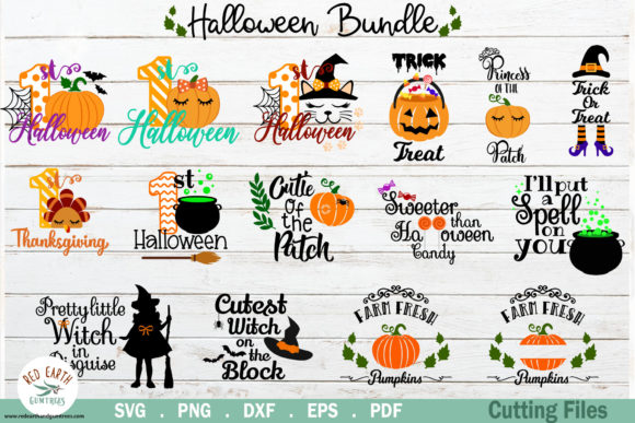 Halloween and Thanksgiving Quotes Bundle Grafik Plotterdateien von redearth and gumtrees