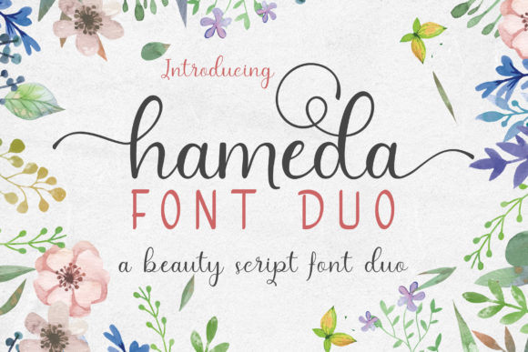 Print on Demand: Hameda Script & Handwritten Font By mdrdesigns99