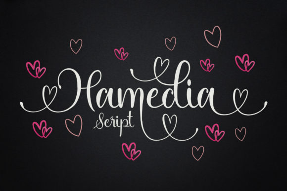 Print on Demand: Hamedia Script Script & Handwritten Font By mdrdesigns99