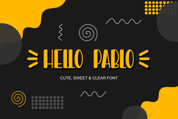 Print on Demand: Hello Pablo Display Font By Prast Art - Image 1
