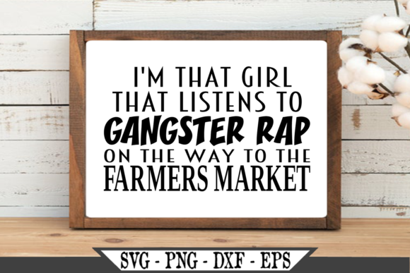 I'm That Girl That Listens Graphic Crafts By Crafters Market Co