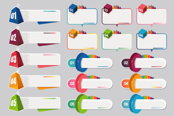 Infographic with 6 Option Colour Graphic Infographics By onoborgol