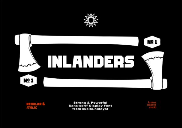 Print on Demand: Inlanders Display Font By Luxima Creative