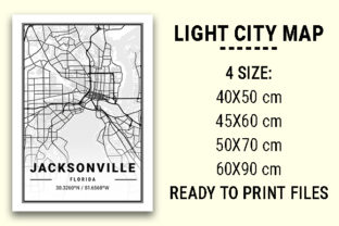 Print on Demand: Jacksonville Light City Map Graphic Photos By tienstencil