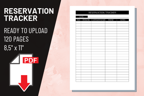 Print on Demand: KDP Interior Reservation Tracker Graphic KDP Interiors By atlasart