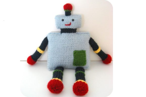 Knit Robot Pattern Grafik Knitting Patterns von Amy Gaines Amigurumi Patterns