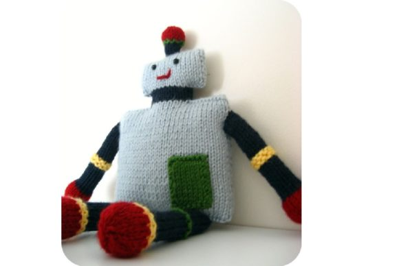 Knit Robot Pattern Graphic Knitting Patterns By Amy Gaines Amigurumi Patterns - Image 2