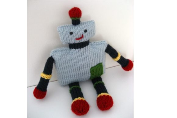 Knit Robot Pattern Graphic Knitting Patterns By Amy Gaines Amigurumi Patterns - Image 3