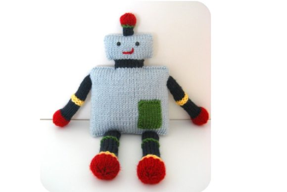Knit Robot Pattern Graphic Knitting Patterns By Amy Gaines Amigurumi Patterns - Image 4