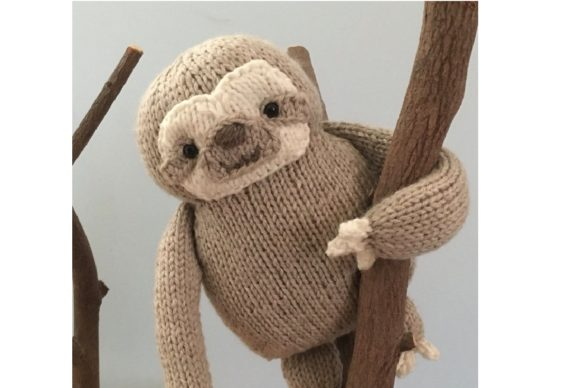 Knit Sloth Pattern Grafik Knitting Patterns von Amy Gaines Amigurumi Patterns