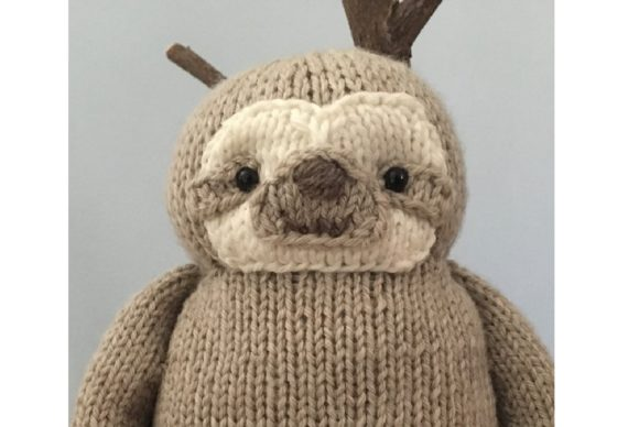 Knit Sloth Pattern Graphic Knitting Patterns By Amy Gaines Amigurumi Patterns - Image 2