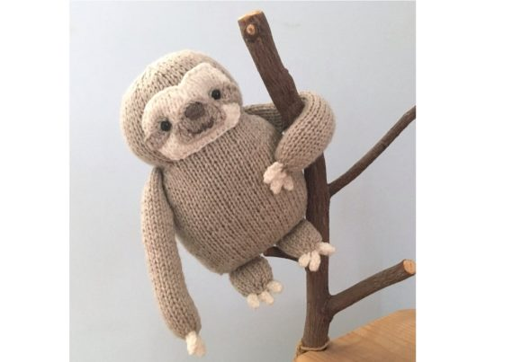 Knit Sloth Pattern Graphic Knitting Patterns By Amy Gaines Amigurumi Patterns - Image 3
