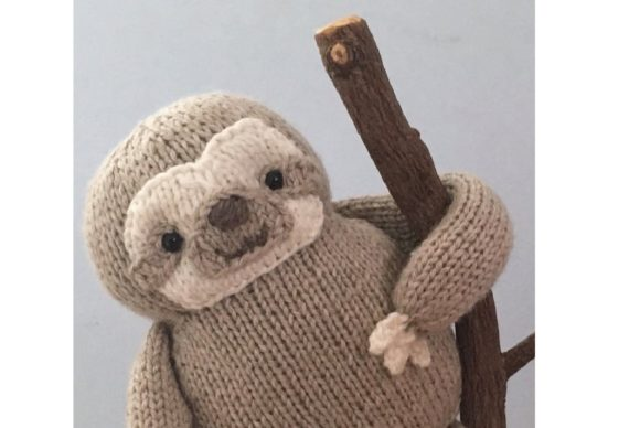 Knit Sloth Pattern Graphic Knitting Patterns By Amy Gaines Amigurumi Patterns - Image 4