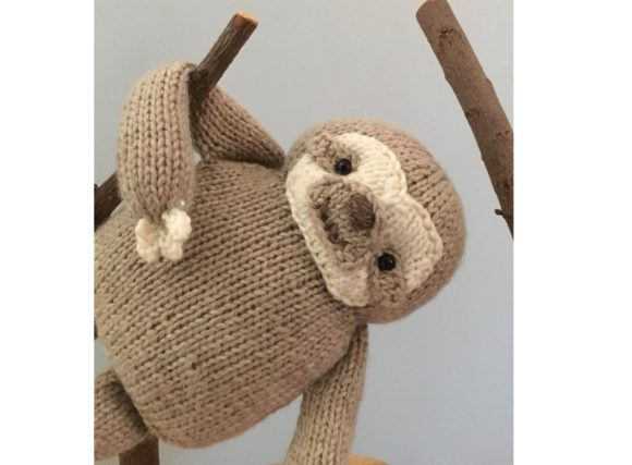 Knit Sloth Pattern Graphic Knitting Patterns By Amy Gaines Amigurumi Patterns - Image 5