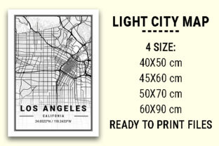 Print on Demand: Los Angeles Light City Map Graphic Photos By tienstencil