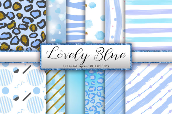Lovely Blue Background Digital Papers Graphic Backgrounds By PinkPearly