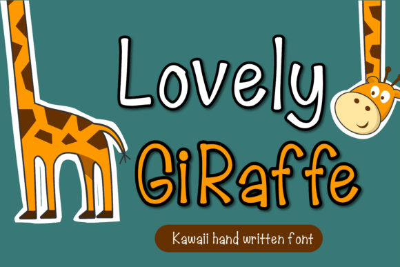Print on Demand: Lovely Giraffe Script & Handwritten Font By vividdiy8 - Image 1