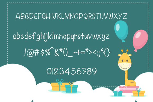 Print on Demand: Lovely Giraffe Script & Handwritten Font By vividdiy8 - Image 6