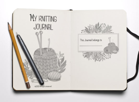 Print on Demand: My Knitting Journal - KDP Interior Graphic KDP Interiors By anatarouca - Image 2
