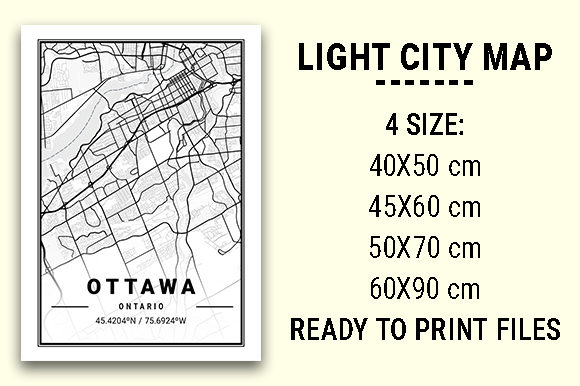 Print on Demand: Ottawa Light City Map Graphic Photos By tienstencil