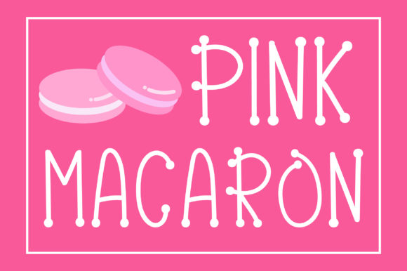 Print on Demand: Pink Macaron Display Font By PearlyDaisy - Image 1