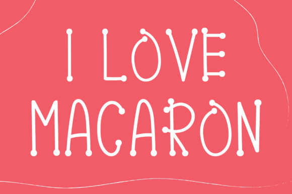 Print on Demand: Pink Macaron Display Font By PearlyDaisy - Image 3