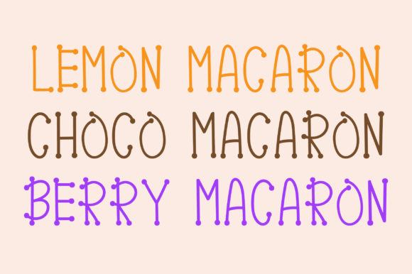 Print on Demand: Pink Macaron Display Font By PearlyDaisy - Image 4
