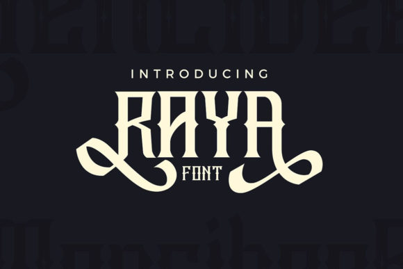 Print on Demand: Raya Display Font By JumboDesign