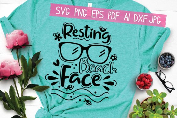 Resting Beach Face Graphic Crafts By MooonLight