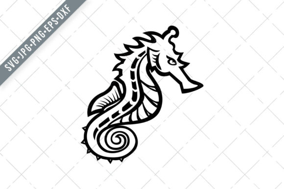 Print on Demand: Seahorse or Sea Horse Side Mascot Graphic Illustrations By patrimonio