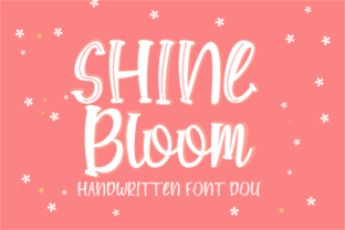 Print on Demand: Shine Bloom Display Font By Rvandtype 1