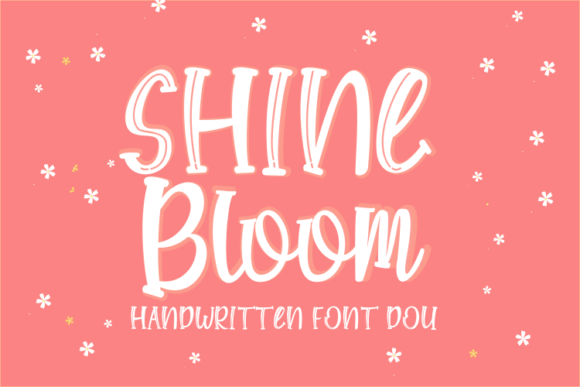 Print on Demand: Shine Bloom Display Font By Rvandtype - Image 1