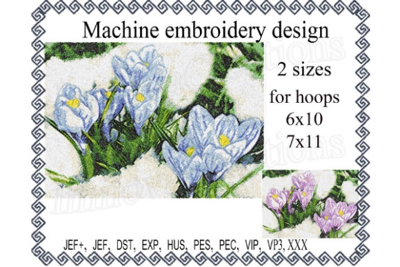 Snowdrop Bouquets & Bunches Embroidery Design By ImilovaCreations