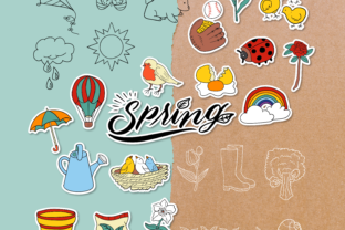 Spring Doodle Clipart Pack - 4 Styles Graphic Objects By WADLEN