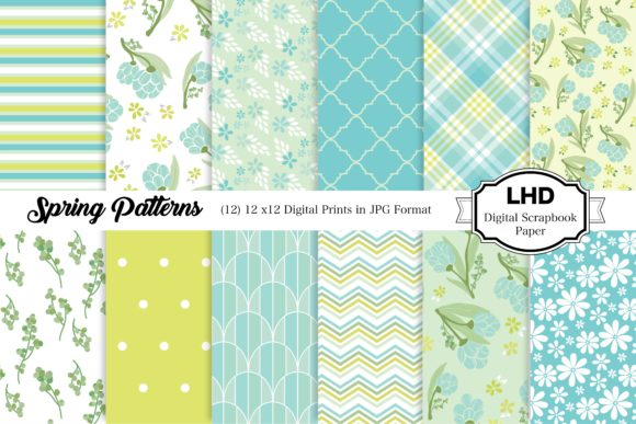 Spring Patterns Grafik Muster von LeskaHamatyDesign