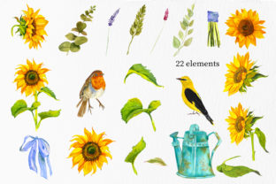 Print on Demand: Sunflower - a Flower of the Sun! Watercor Graphic Illustrations By ElenaZlataArt 2
