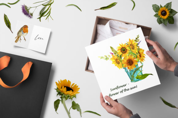 Sunflower - a Flower of the Sun! Watercor Graphic Illustrations By ElenaZlataArt - Image 4