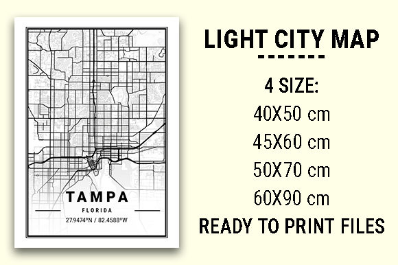 Print on Demand: Tampa Light City Map Graphic Photos By tienstencil