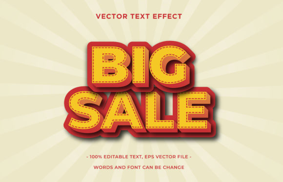 Text Effect Editable - Big Sale Graphic Add-ons By aalfndi