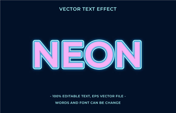 Text Effect Editable - Neon Graphic Add-ons By aalfndi