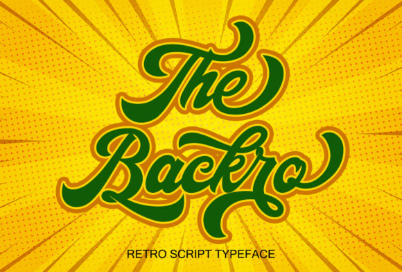 Print on Demand: The Backro Script & Handwritten Font By Sealoung
