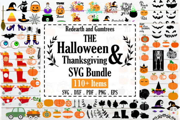 The Huge Halloween Thanksgiving Bundle Graphic Crafts By redearth and gumtrees