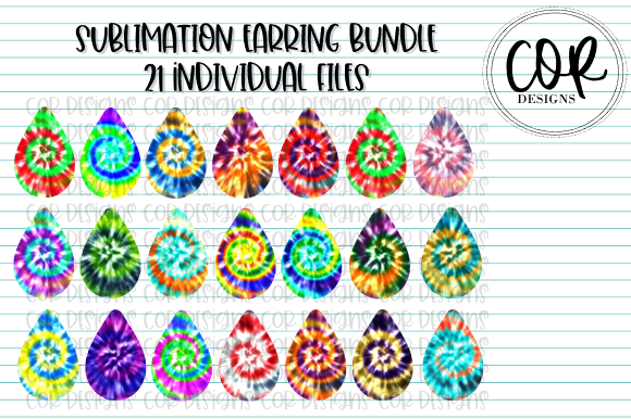 Print on Demand: Tie-Dye Sublimation Earring Bundle Graphic Crafts By designscor