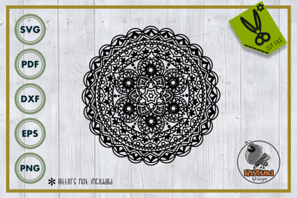 Vector Illustration of Mandala Art Graphic Crafts By RIZUKI Store
