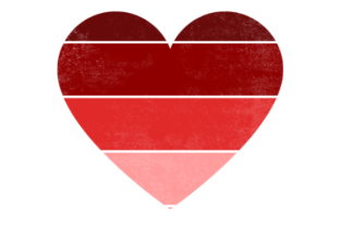 Print on Demand: Vintage Retro Striped Heart Graphic Crafts By atlasart