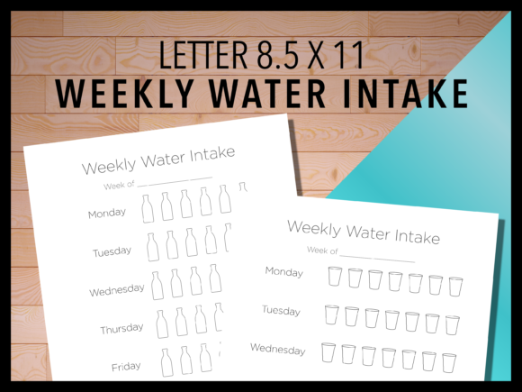 Print on Demand: Weekly Water Intake Graphic Print Templates By AscendPrints