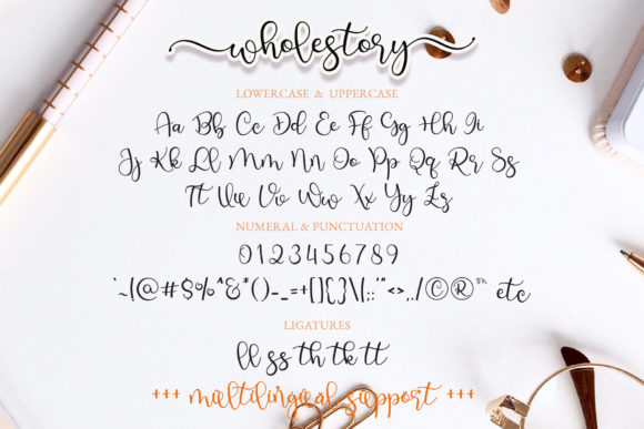 Print on Demand: Wholestory Script & Handwritten Font By airotype - Image 7